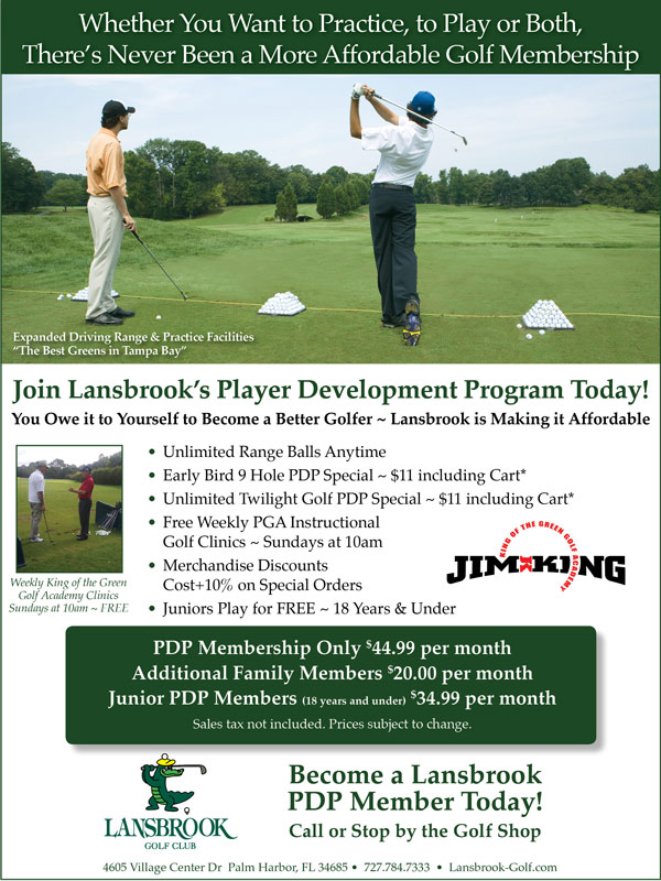 Tampa Bay Fl Golf Membership Player Development Programs Lansbrook Golf Club