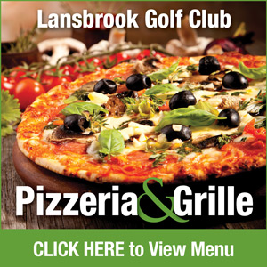Graphic for Lansbrook Golf Club's Pizzeria