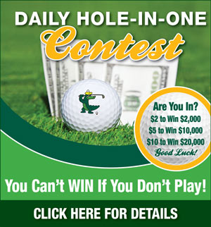 Graphic promoting Lansbrook Golf Club Daily Hole-in-One contest
